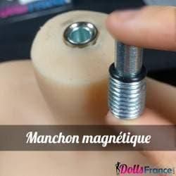 Manchon magnétique pour poupée en TPE