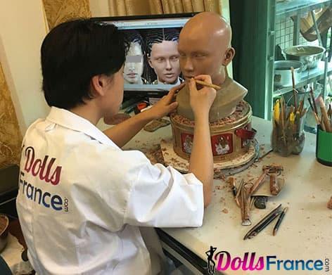 Création d'un visage pour poupée TPE