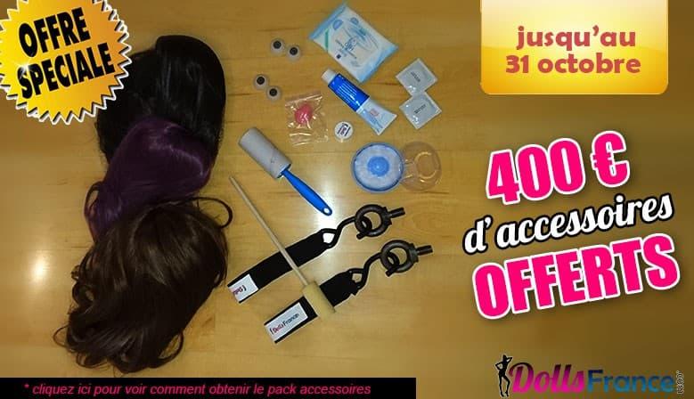 Pack d'accessoires d'une valeur de 400€ offerts
