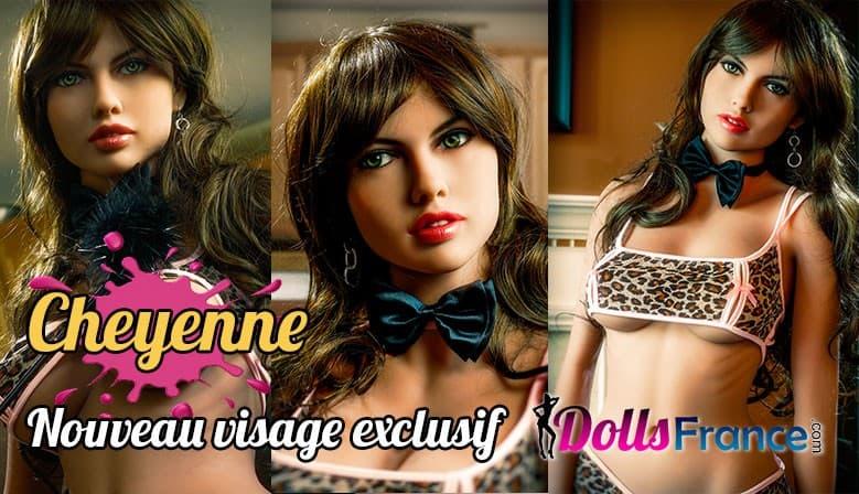 Nouveau visage exclusif Cheyenne création Dollsfrance