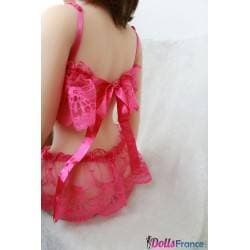 Ensemble dentelle sexy fuschia