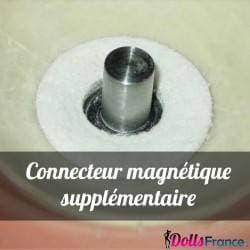 Connecteur magnétique supplémentaire pour tête en TPE