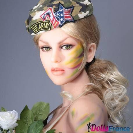 Poupée blonde guerrière 150cm Victoria