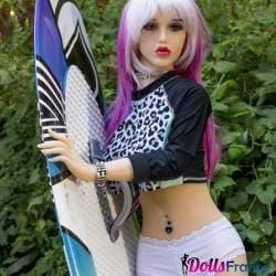 Surfeuse Abby aux cheveux roses 148cm ASDoll