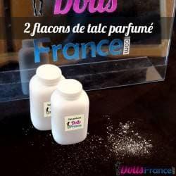 2 flacons de talc parfumé 2x80ml