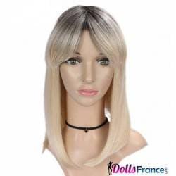 Perruque blonde mi longue