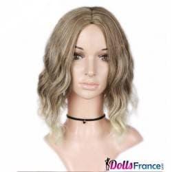 Perruque blond vénicien ondulée