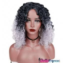 Perruque afro bicolore