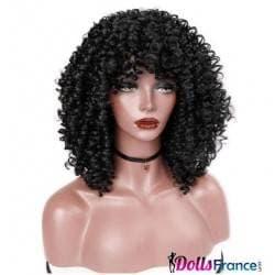 Perruque afro brune