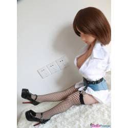 Chaussures à talons noires pour mini-doll 100cm