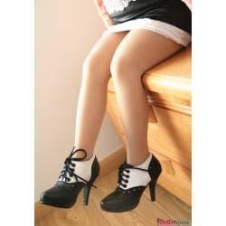 Chaussures bicolores à talons pour mini-doll 100cm