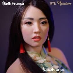 Hermina sexdoll chinoise avec visage en silicone 165cm B 6YE
