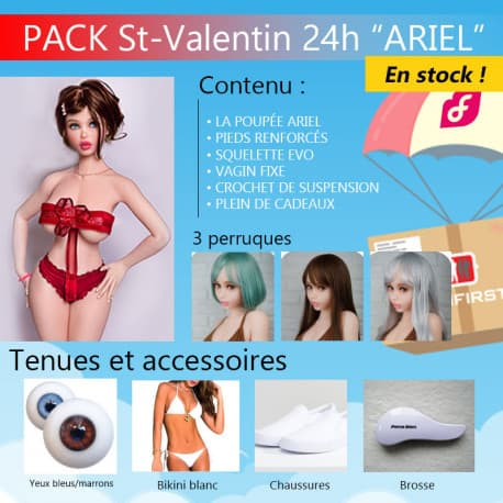 PACK SPECIAL Ariel 140cm Piper doll