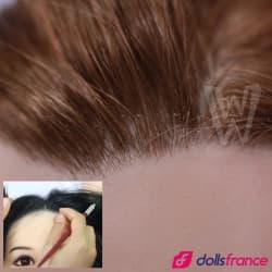 Cheveux implantés pour sexdoll WMDolls et YLdoll