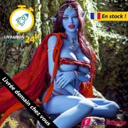 Sex doll elfe mystique à la peau bleue 158cm AiBei