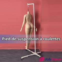 Pied de suspension à roulettes pour sexdoll