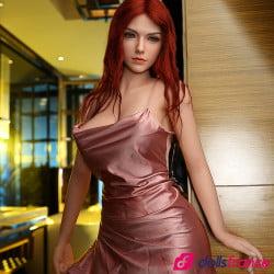 Sexdoll réaliste rousse à gros seins Julie 172cm Starpery