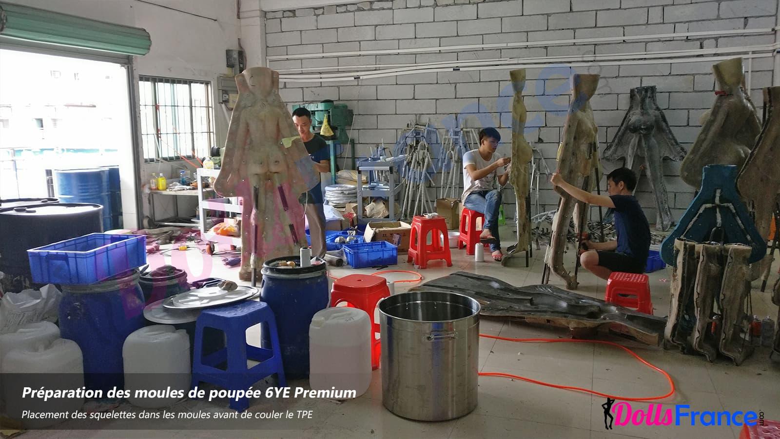 moulage des poupées en TPE usine chinoise