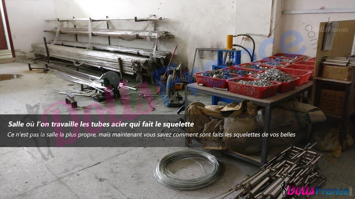 fabrication de squelette métallique pour poupee sexuelle