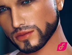 Barbe implantée 1