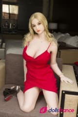 Janya sexy love doll blonde en robe rouge 161cm WMdolls