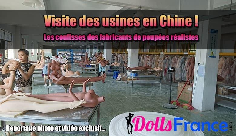 Visite des usines de poupées en Chine